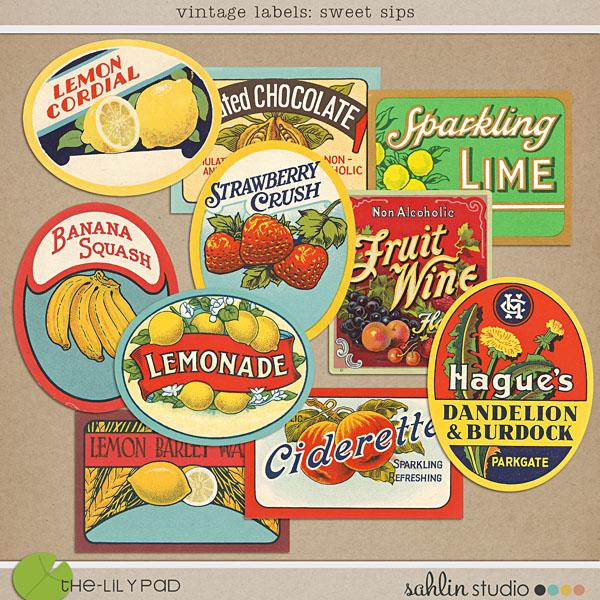 Vintage Labels: Sweet Sips