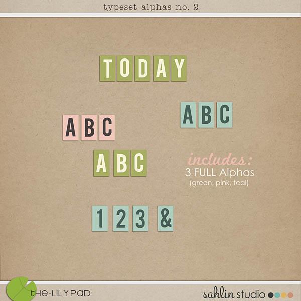 Typeset Alphas No.2