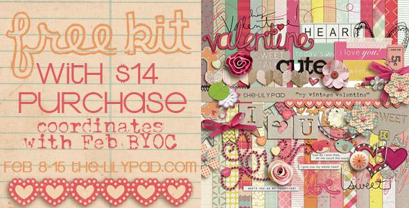 Vintage Valentine digital scrapbooking